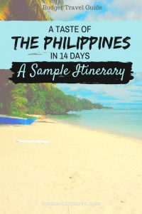 Discover The Philippines - Itinerary