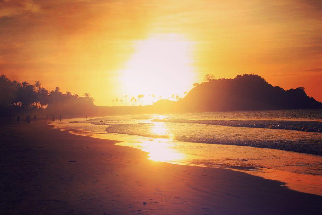 Sunset at Nacpan Beach, Palawan