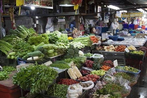 Market Southeast Asia Vegetables