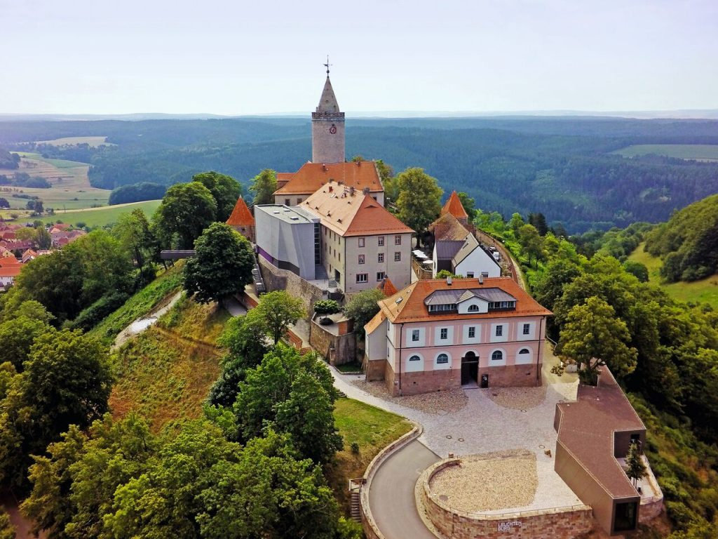 Leuchtenburg from above (Stiftung Leuchtenburg)