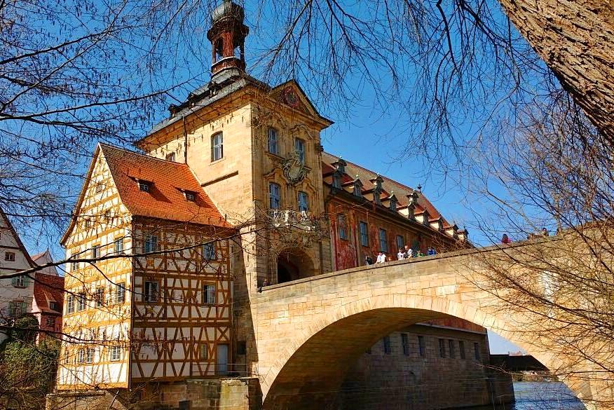 Old Town Hall Bamberg and Bridge